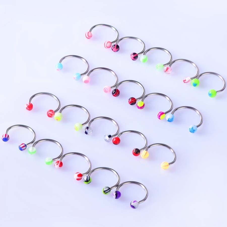 14g 16g Wholesale Bulk lots Body Piercing Eyebrow Jewelry Belly Tongue Bar Ring Unbranded Does not apply - фотография #10