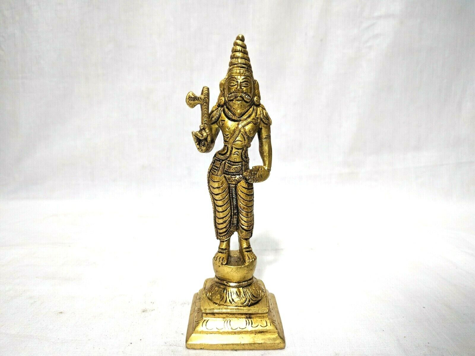 Dashavatar Brass Statue Vishnu Ten Avatar God Pooja Figurine Temple Art Decor Без бренда - фотография #7