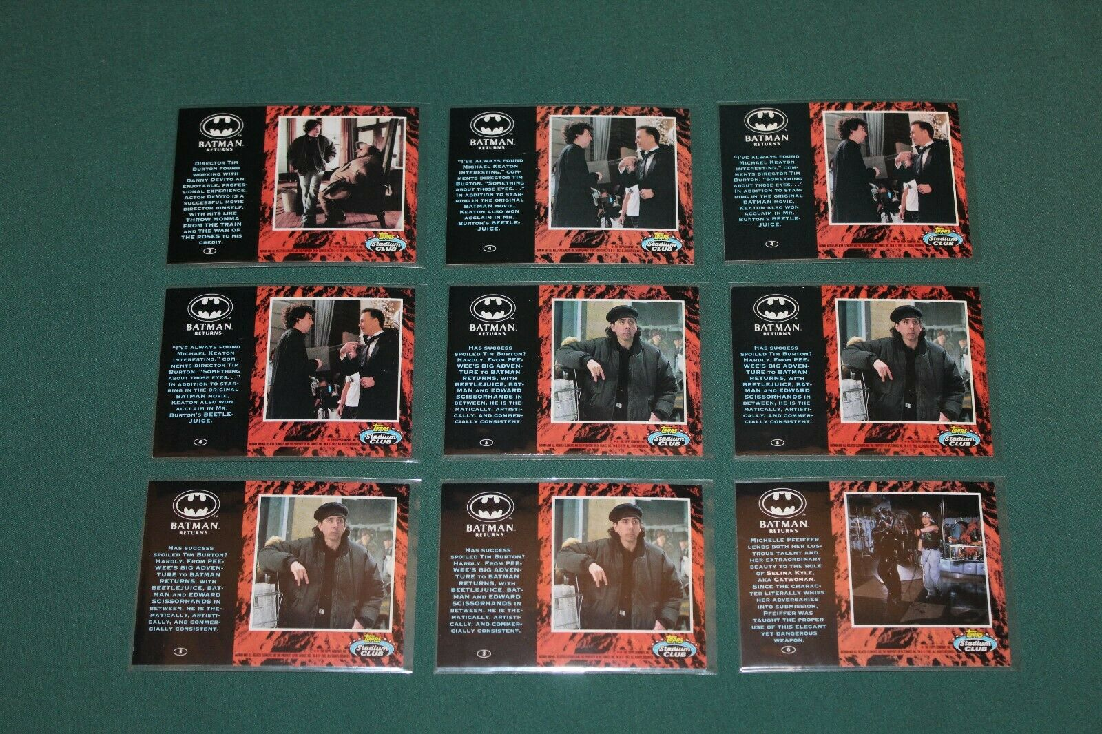 BATMAN RETURNS 1992 TOPPS STADIUM CLUB CARDS: 2,4,5,6,7,10,12,13,14,15,16,17,20 Без бренда NONE - фотография #5
