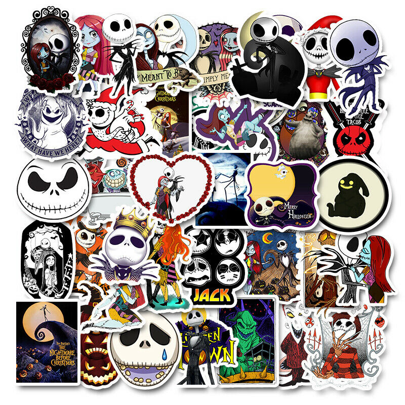 The NIGHTMARE Before CHRISTMAS 10 Stickers~ Halloween Movie  Без бренда