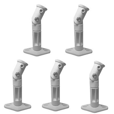 White - 5 Pack Lot - Universal Wall or Ceiling Speaker Mounts Brackets fits BOSE Iron Mounts 309500WH-5