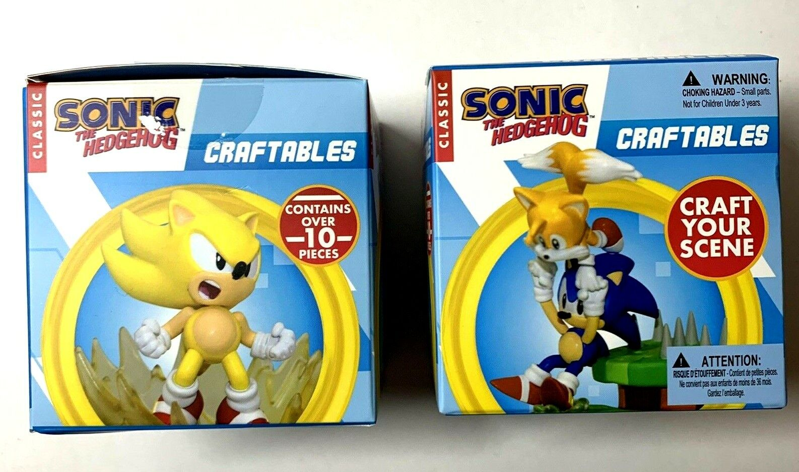 Sonic the Hedgehog: Craftables - Sonic and Super Sonic Sets - Lot of 2 - 2020 Just Toys