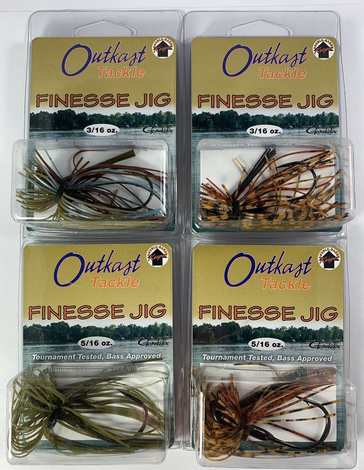 Outkast Tackle Finesse Jig (Lot of 4) Outkast Tackle Does Not Apply