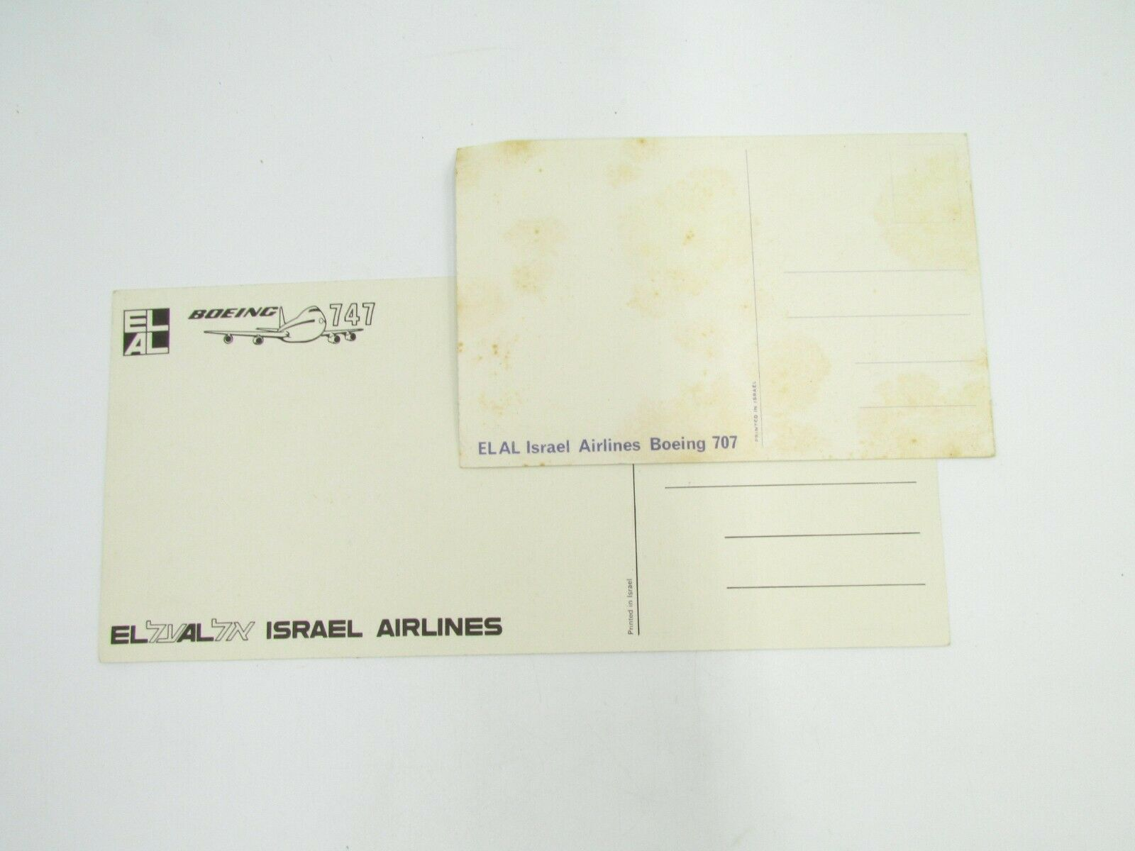 Vintage Airlines 7 Postcards Lot KLM Lufthansa EL-AL Delta Aircrafts Без бренда - фотография #6