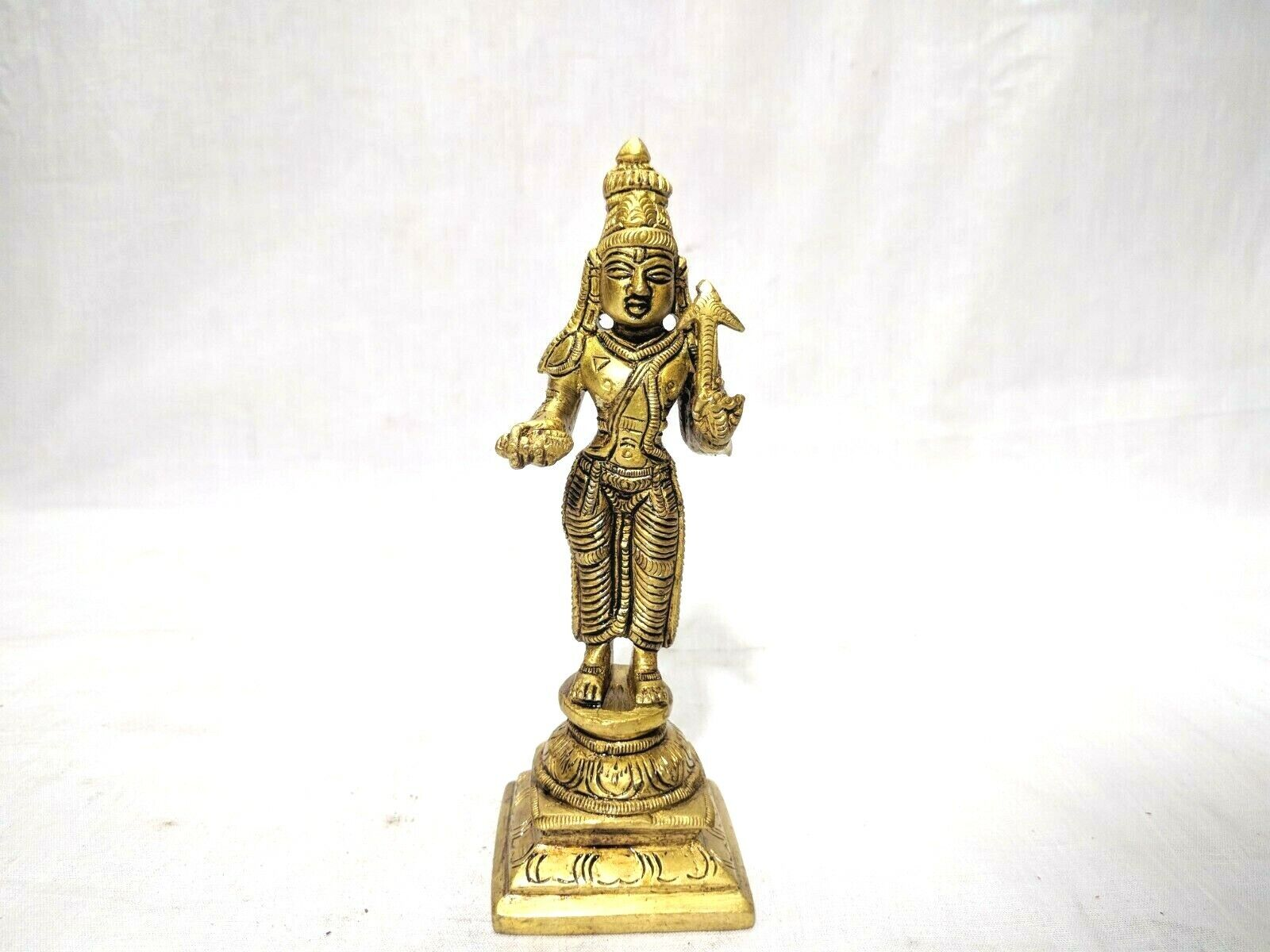 Dashavatar Brass Statue Vishnu Ten Avatar God Pooja Figurine Temple Art Decor Без бренда - фотография #9