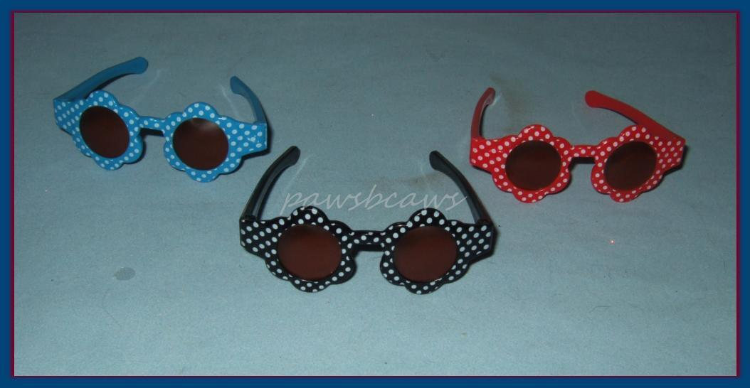 SAVE 33% 3 pairs of Doll SUNGLASSES Sun Glasses for Miss Revlon CISSY Dollikins Sophia's