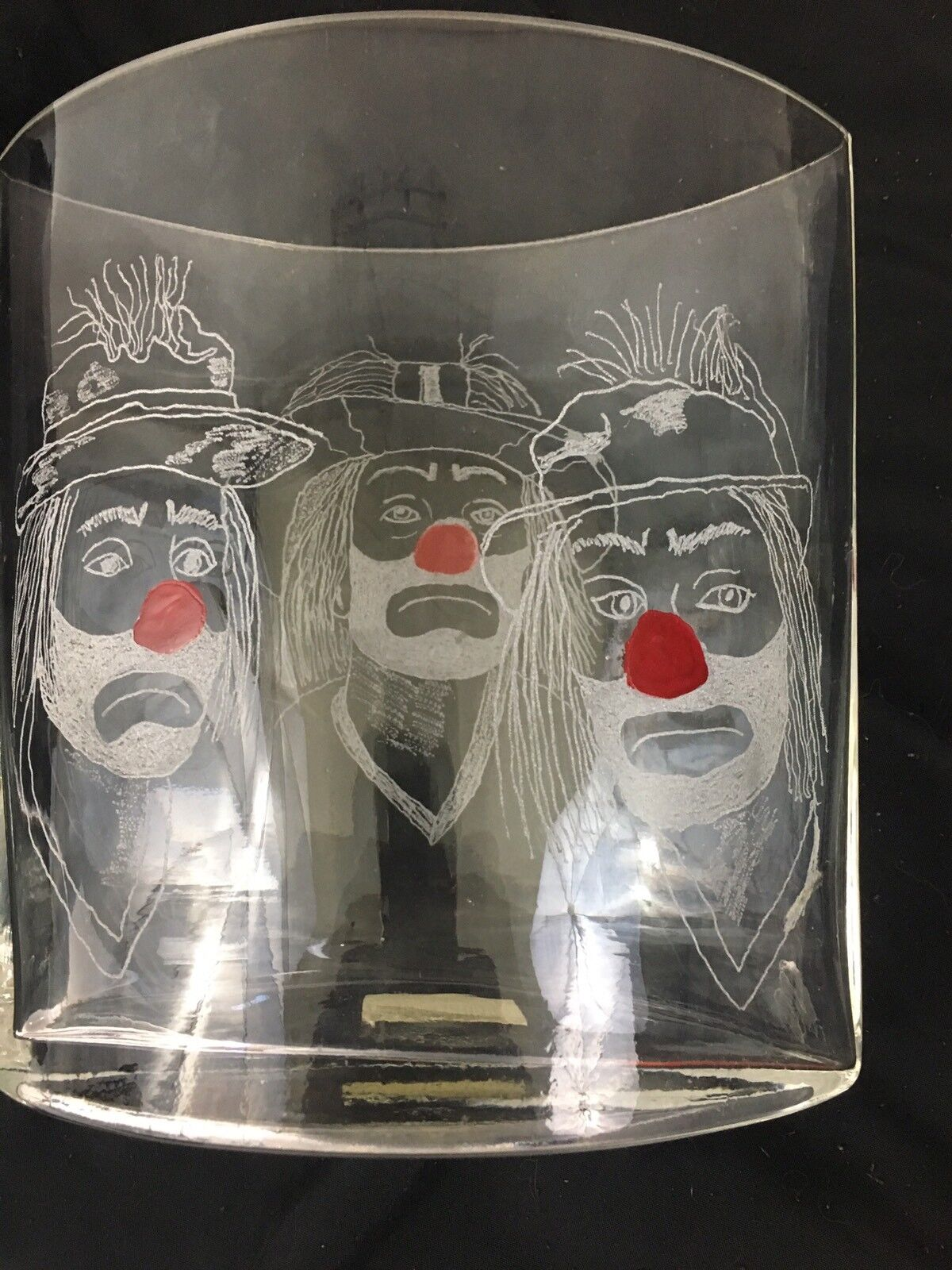 One Of A Kind Vases Hand Etched With Emmett Kelly Images Set Of 6 Без бренда - фотография #6