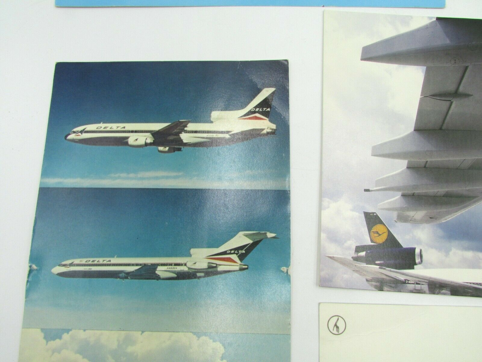 Vintage Airlines 7 Postcards Lot KLM Lufthansa EL-AL Delta Aircrafts Без бренда - фотография #2