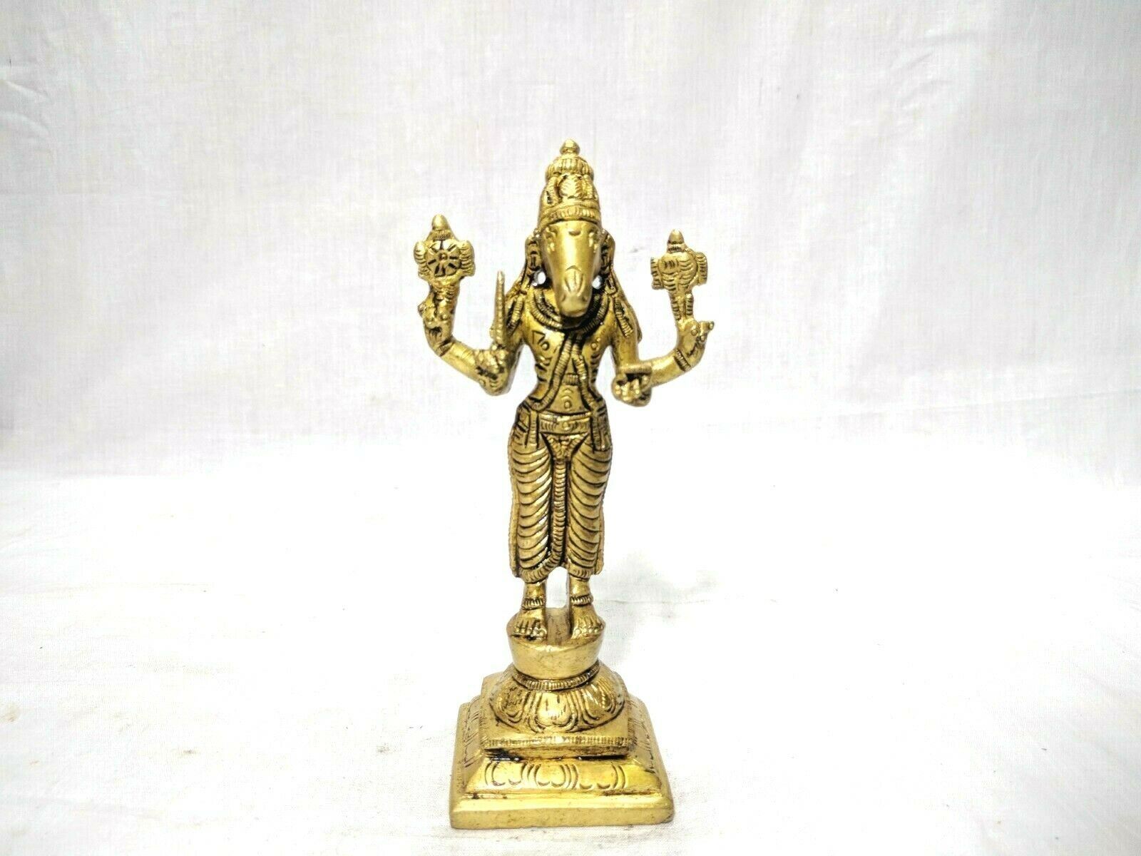 Dashavatar Brass Statue Vishnu Ten Avatar God Pooja Figurine Temple Art Decor Без бренда - фотография #11