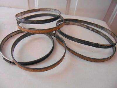 Vintage Lot of 3 EMBROIDERY HOOPS 1 OVAL 2 ROUND Silver Metal Cork Spring Frames Unbranded