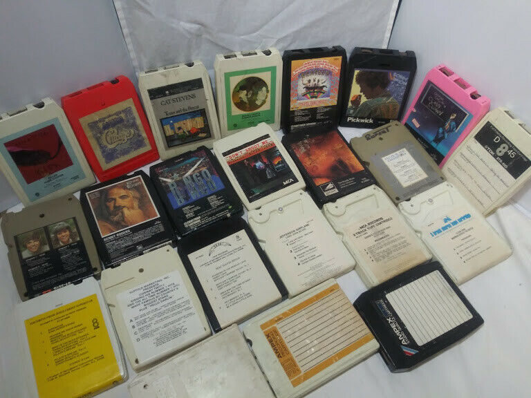 8 Track Tape Lot of 23 Various Artists untested Без бренда