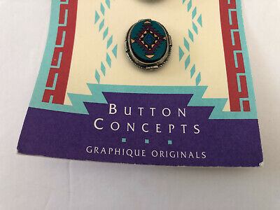 Lot of 2 Sets Turquoise / Southwestern Button Covers, Julie Rose Button Concepts Button Concepts - фотография #5