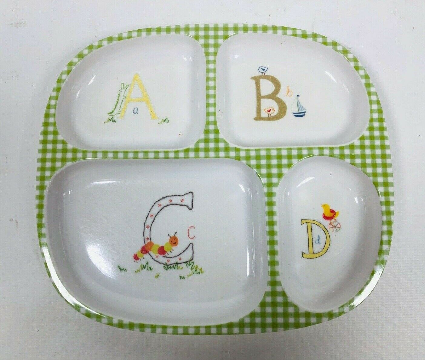 POTTERY BARN KIDS PLATES Set of 3 Divided Melamine Food Trays Animal Print BABY Без бренда - фотография #3