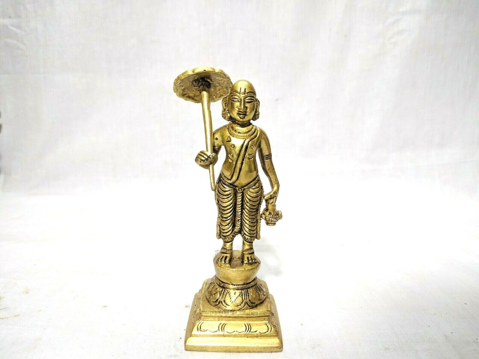 Dashavatar Brass Statue Vishnu Ten Avatar God Pooja Figurine Temple Art Decor Без бренда - фотография #5