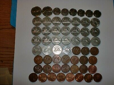 CANADA COIN LOT OF- 58  OLD  &  NEW  COINS - SOME RARE- NO DUPLICATES -1947-2011 Без бренда