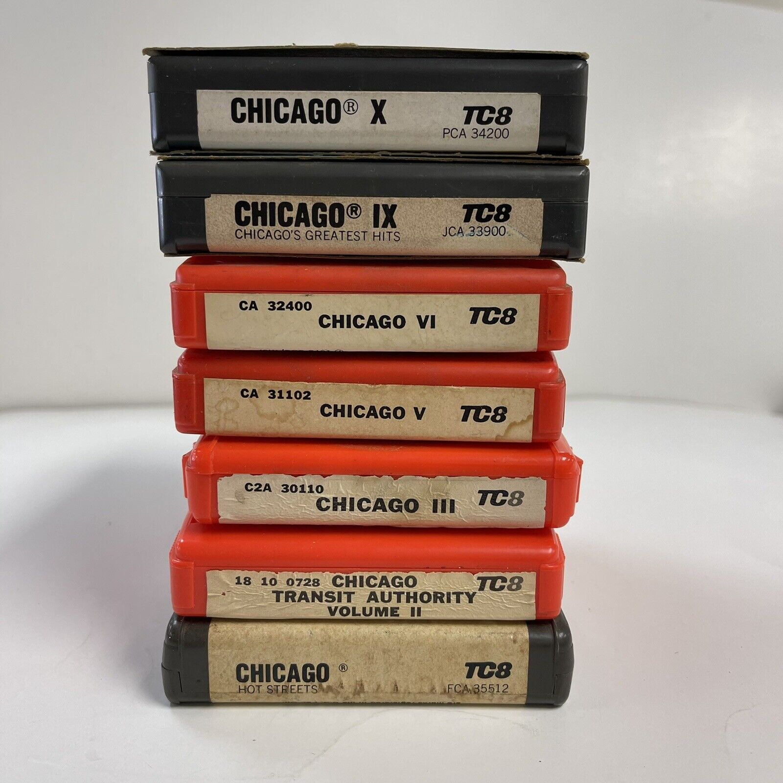 Lot Of 7 Chicago The Band 8 Track Tapes Без бренда