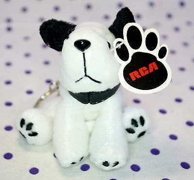 Jack Russell Terrier RCA Chipper Dog White Puppy Plush Keychain Stocking Stuffer RCA