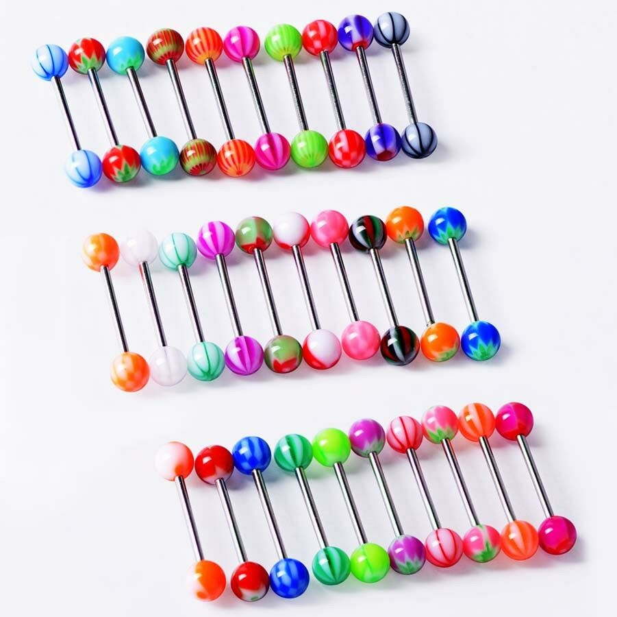 14g 16g Wholesale Bulk lots Body Piercing Eyebrow Jewelry Belly Tongue Bar Ring Unbranded Does not apply - фотография #3