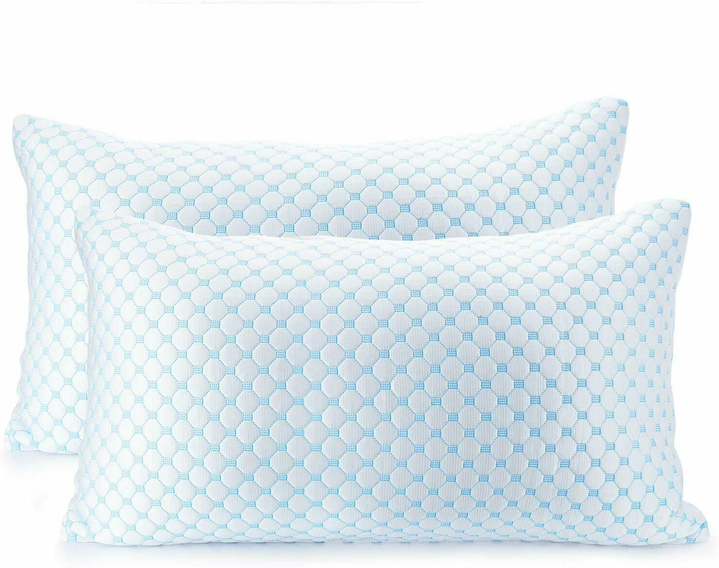 ❄Clara Clark Gel Infused Pillow Reversible Multi-Use Cool to Velvety - King,3 Pk CLARA CLARK - фотография #2