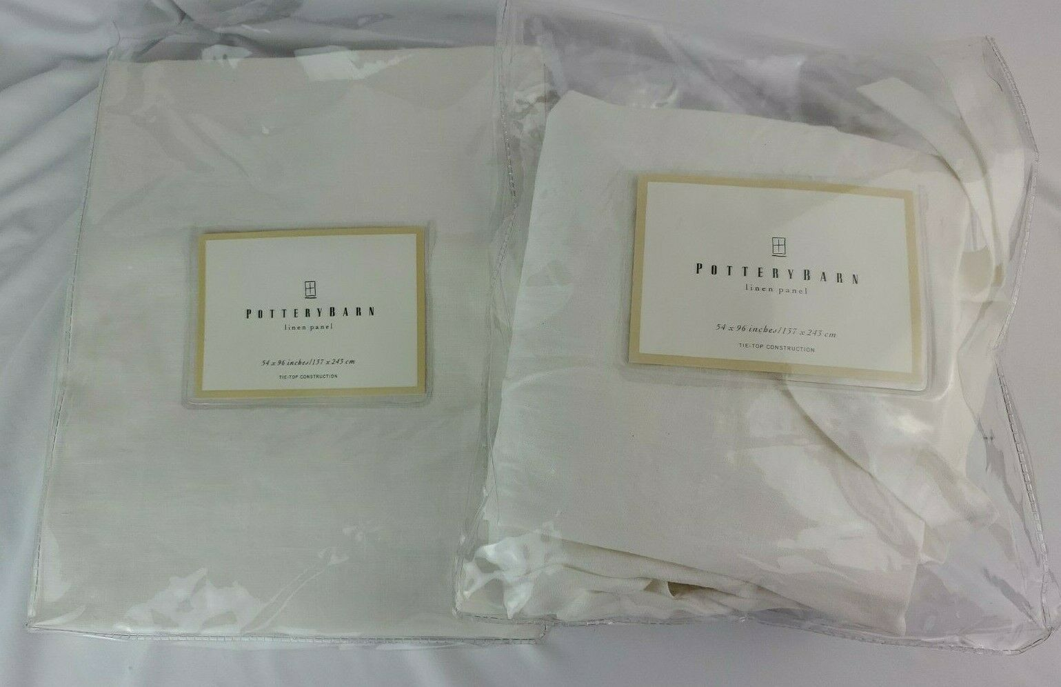 Pottery Barn Linen Panel 54 × 96 Inches Tab Top - Set Of 2 Pottery Barn