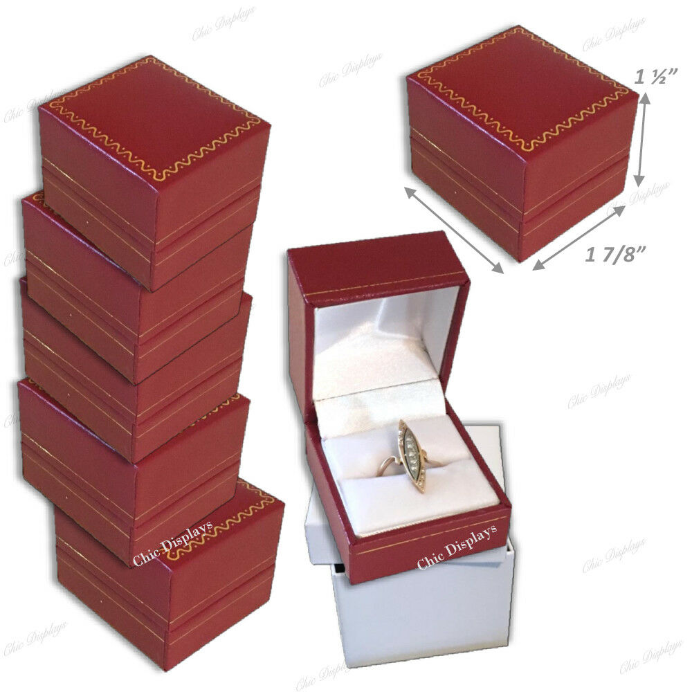 Jewelry Gift Boxes for Jewelry Boxes for Sale Red Ring Jewelry Boxes Bulk 15-Pc Unbranded