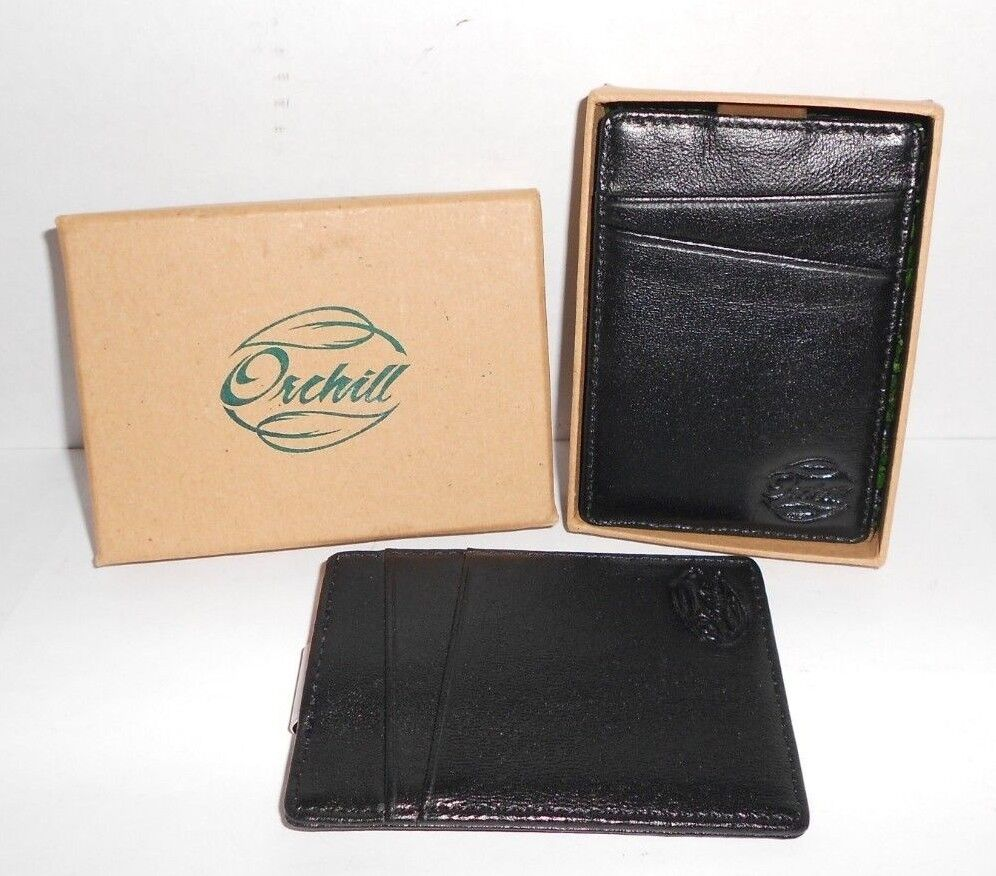 Orchill Slim Money Clip Leather Wallet Lot Orchill