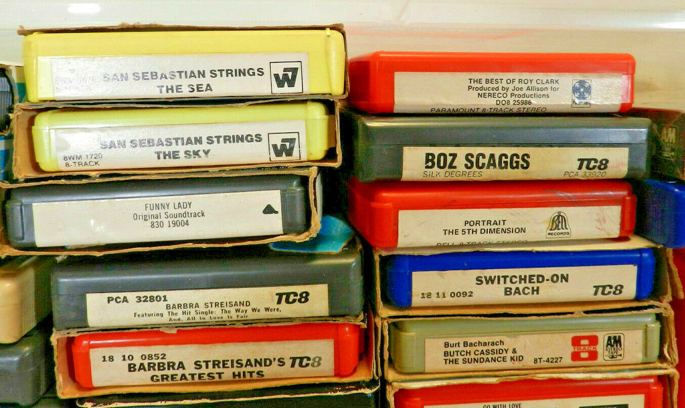 LOT OF 71 ~ 8 Track Tapes Mixed Lot of Pop Music from the 60's & 70's ~ Fab Fun Без бренда - фотография #4