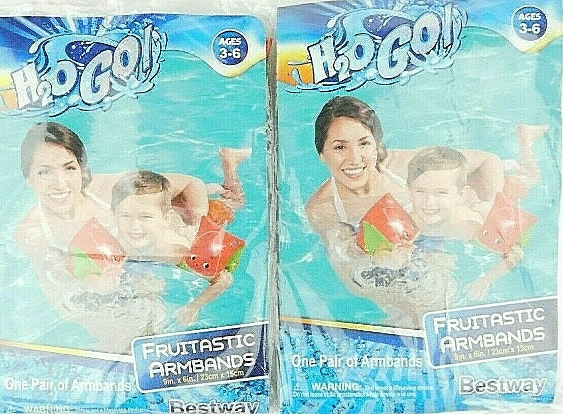 Lot Of 2 Bestway H20 Go Fruitastic Armbands Watermelon 9'' New Sealed Bestway Y0000211 - фотография #7