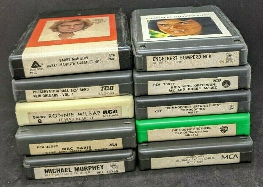 Lot of 10 ~ 8-Track Tapes Untested, 60s-70s-80s  Без бренда