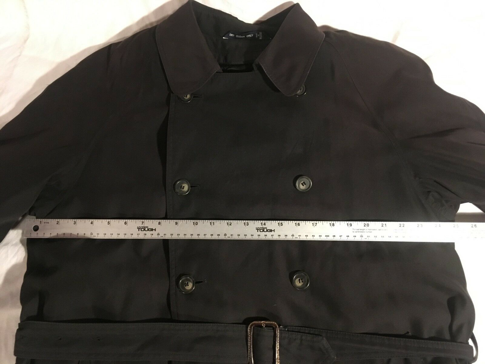 RALPH LAUREN RALPH 42 LONG BLACK FIVE BUTTON DOUBLE BREASTED TRENCH COAT Ralph Ralph Lauren Does Not Apply