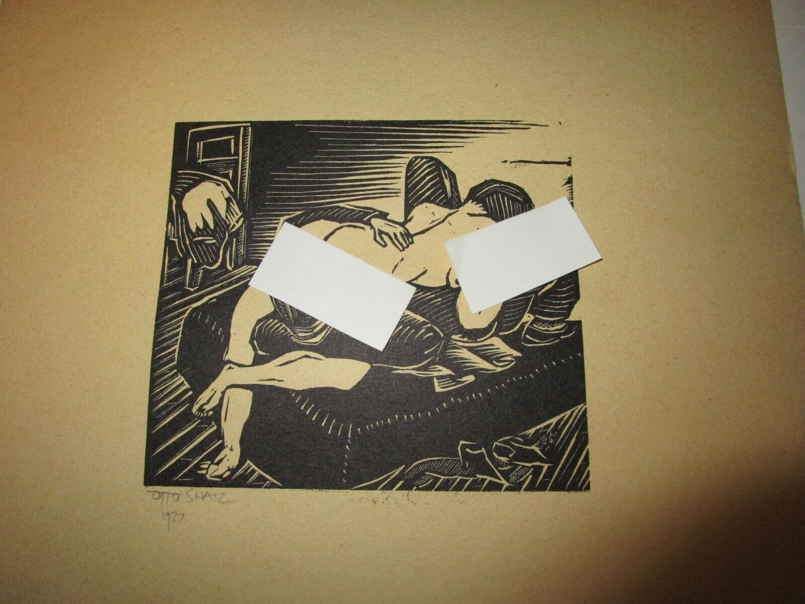 Otto Shatz Erotic Wood Block Prints - Set of 3 Без бренда