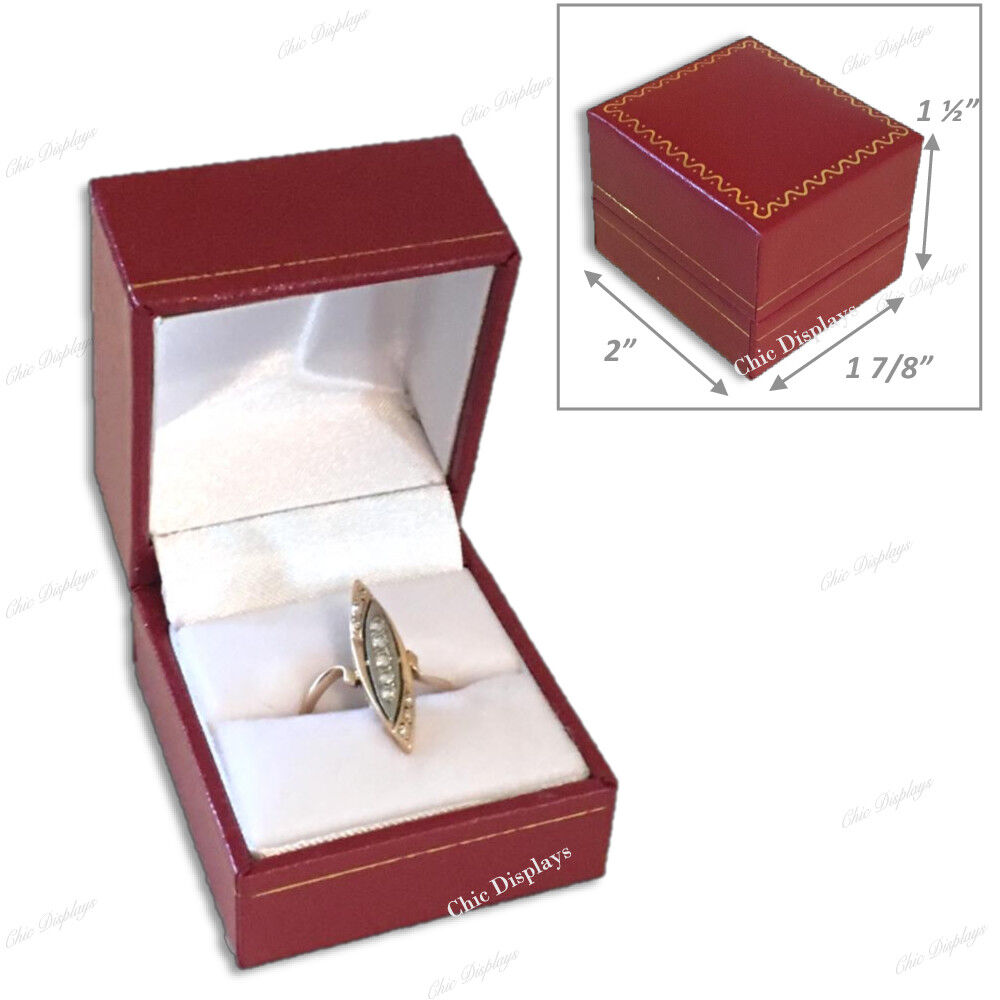 Jewelry Gift Boxes for Jewelry Boxes for Sale Red Ring Jewelry Boxes Bulk 15-Pc Unbranded - фотография #4