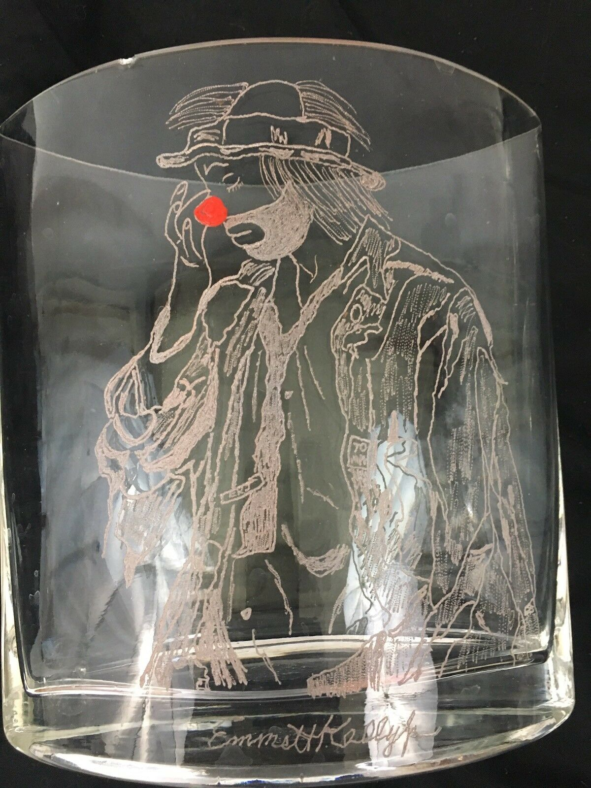 One Of A Kind Vases Hand Etched With Emmett Kelly Images Set Of 6 Без бренда - фотография #4