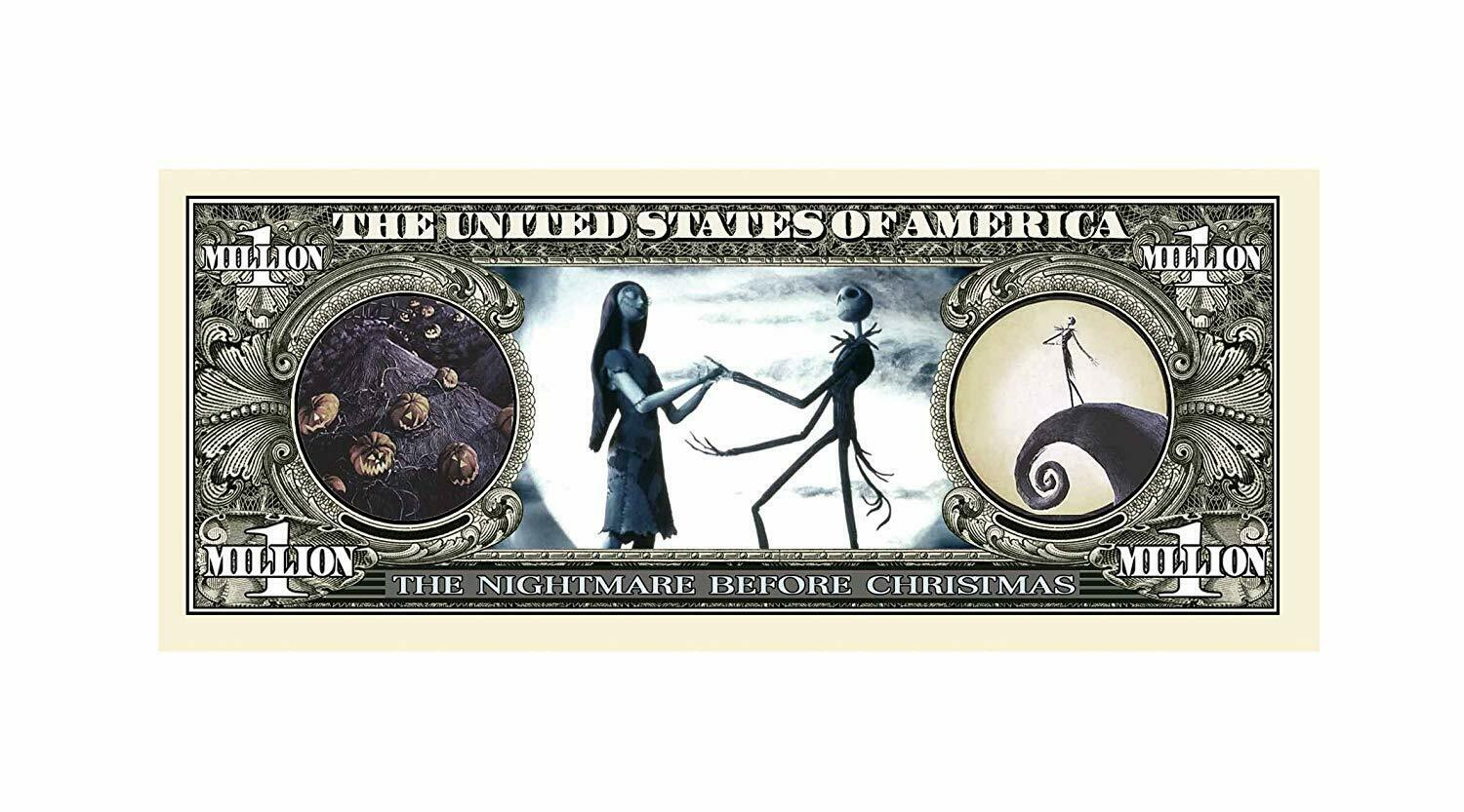 5 Nightmare Before Christmas Collectible Dollar Bill Novelty Note Lot Без бренда - фотография #3