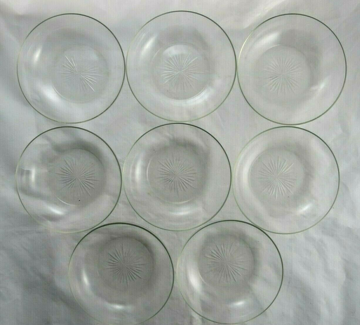 Clear Glass Dessert Fruit Bowls Dishes 32 Point Star Elegant Set of  8 Без бренда