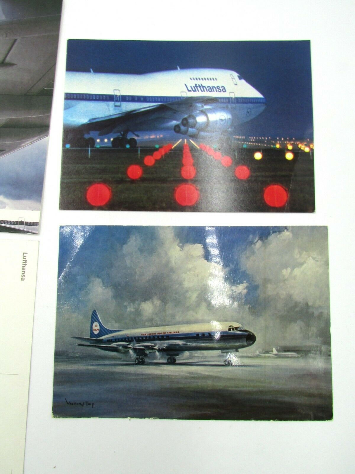 Vintage Airlines 7 Postcards Lot KLM Lufthansa EL-AL Delta Aircrafts Без бренда - фотография #3