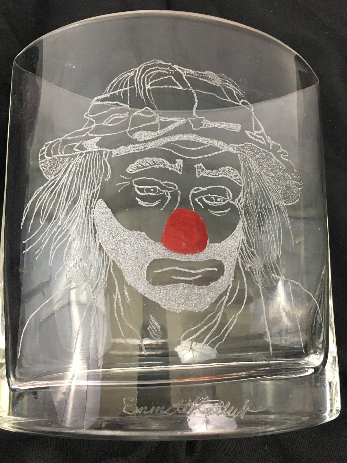 One Of A Kind Vases Hand Etched With Emmett Kelly Images Set Of 6 Без бренда