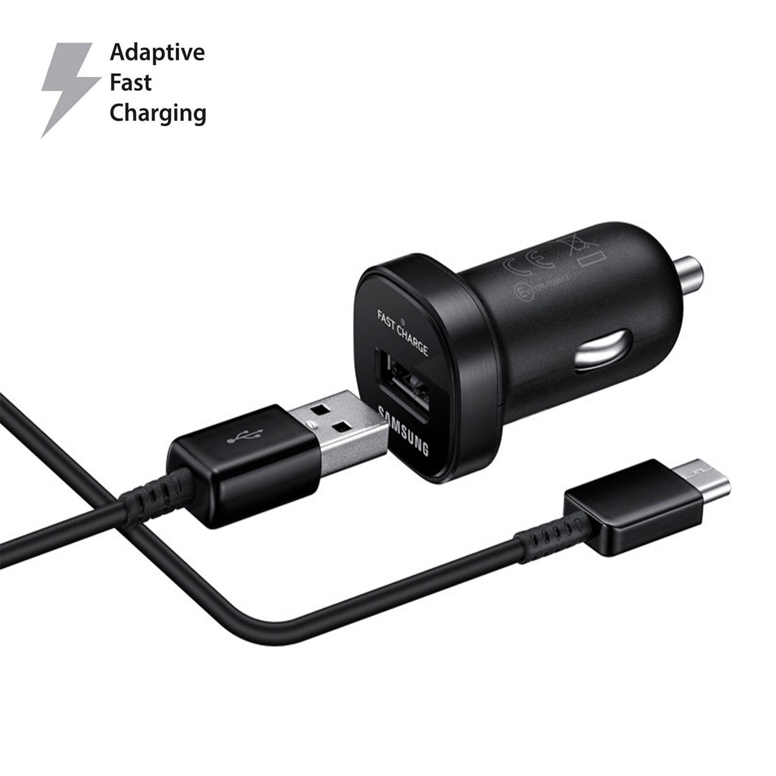 OEM Samsung Fast USB Car Charger For Galaxy S9 S9+ S8/S8 Plus + USB Type-C Cable Samsung EP-LN920BBEGUS - фотография #2