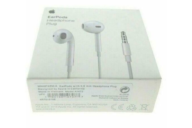 2x Apple Earpods Headphones for iPhone Earphones Earbuds 3.5mm Jack Sealed