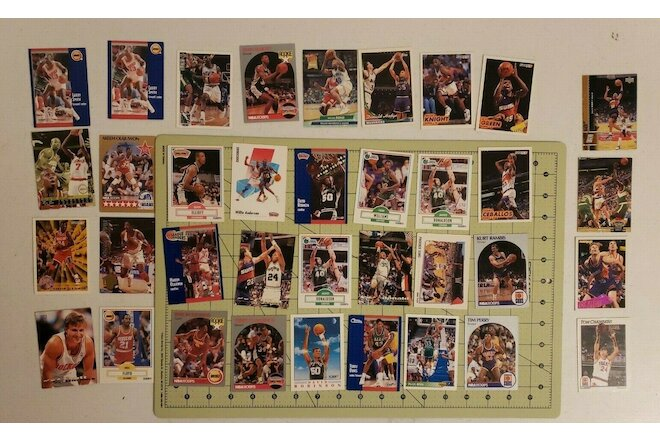Lot Of 36 Random NBA Basketball Cards, Mix of SW Teams- Hakeem the dream