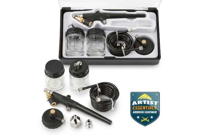 2Pc Single Action Siphon Feed Airbrushes