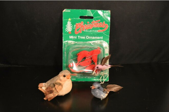 Lot of 7 BIRDS for CRAFTS New Old Stock! wreaths dioramas ornaments displays NOS