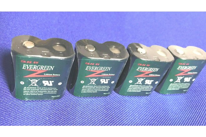4pcs CR P2 6V Lithium battery For CR223,DL223A,EL223A,K223LA...Replaces Alarm...