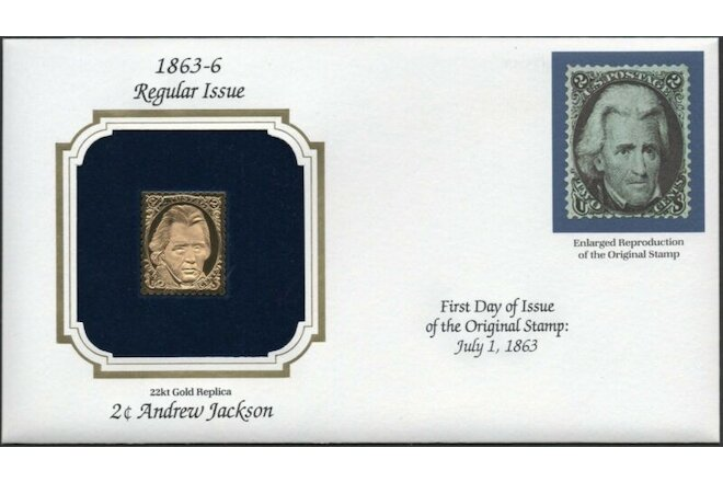 1863-6 Regular Issue U.S Golden Replicas of Classic Stamps. Set of 2