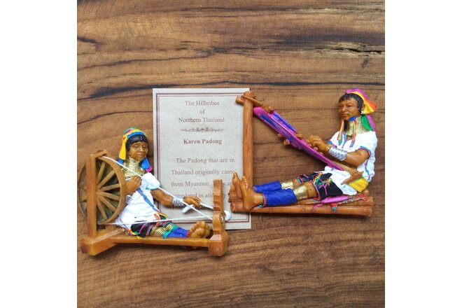 2 pc home decor souvenir fridge magnet ethnic handwoven culture lifestyle figure