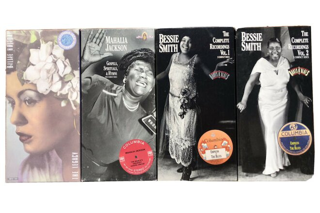 4 CD Box Sets: Billie Holiday, Mahalia Jackson, & Bessie Smith Jazz Gospel Blues