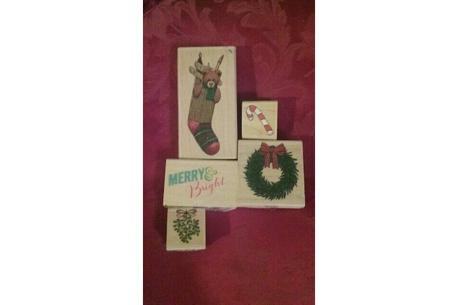 NEW! Set of 5!  Holiday Ink Stampers - Assorted