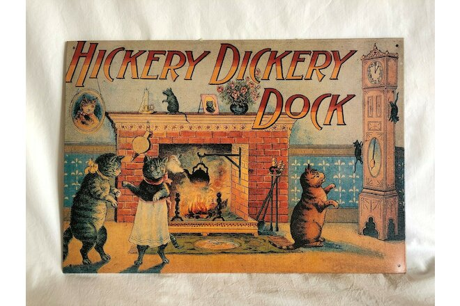 Nursery Rhymes  TWO Metal Decor Vintage Wall hangings Baby Child  Excellent