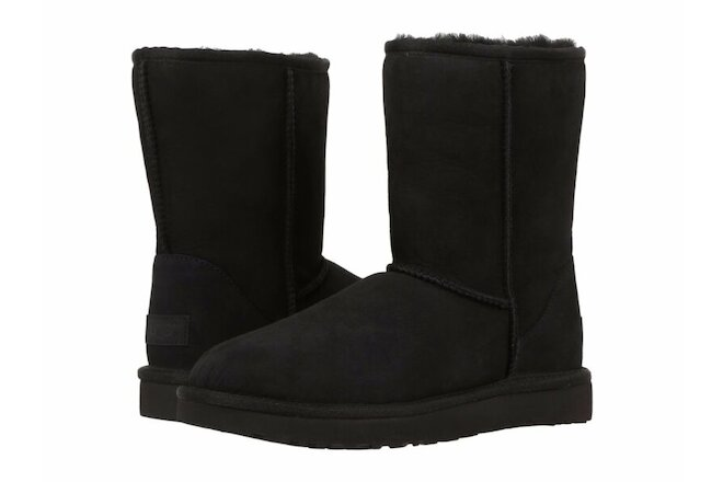Women's Shoes UGG CLASSIC SHORT II Mid-Calf Boots 1016223 BLACK 5 6 7 8 9 10 11