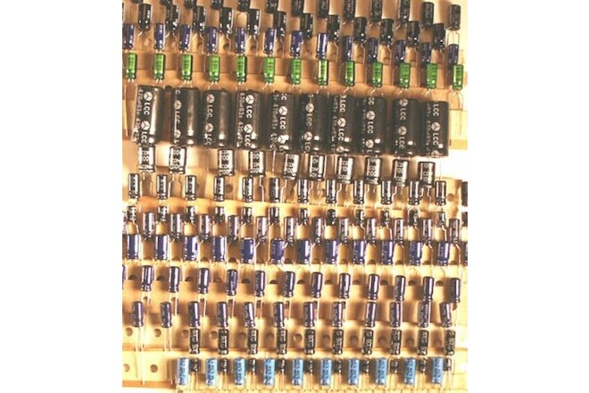 Radial Electrolytic Capacitor Assortment Kit  - LOT of 405 caps